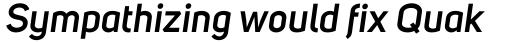 Uni Sans SemiBold Italic sample