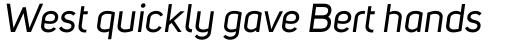 Uni Sans Italic sample