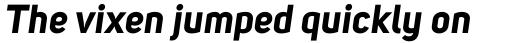 Uni Sans Bold Italic sample