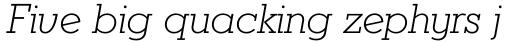 Karnak Pro Light Italic sample