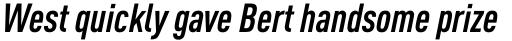 FF DIN OT Cond Bold Italic sample