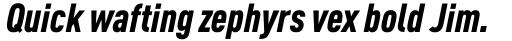 FF DIN OT Cond Black Italic sample