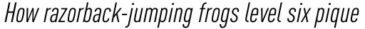 FF DIN OT Cond Italic sample