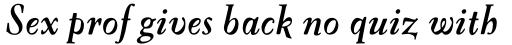 FF Oneleigh OT Bold Italic sample