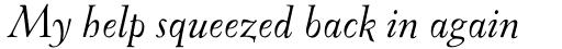 FF Oneleigh Pro Italic sample