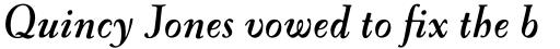 FF Oneleigh Pro Bold Italic sample