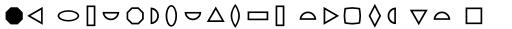 FF Dingbats 2 Basic Forms sample