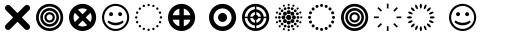 FF Dingbats 2 Circles Crosses sample