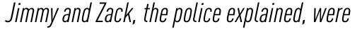 FF DIN Pro Cond Italic sample