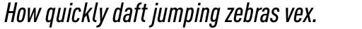 FF DIN Pro Cond Medium Italic sample