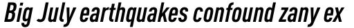 FF DIN Pro Cond Bold Italic sample
