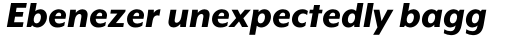 Mr Eaves XL Modern Heavy Italic sample