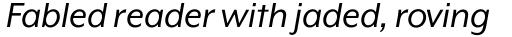 Mr Eaves XL Modern Italic sample