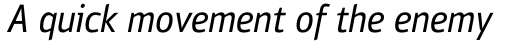 PF Bulletin Sans Pro Italic sample
