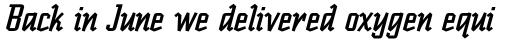 Scriptek Italic sample