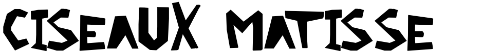 Click to view Ciseaux Matisse font, character set and sample text