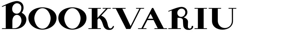 Click to view Bookvarium Roman font, character set and sample text