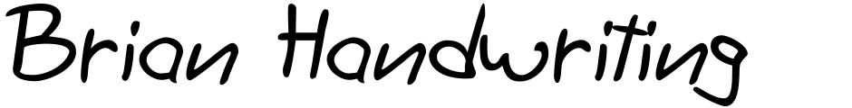 Click to view Brian Handwriting font, character set and sample text