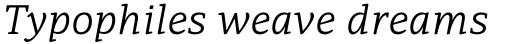 PF Adamant Pro Light Italic sample