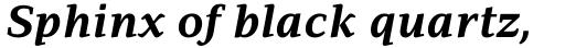PF Adamant Pro Bold Italic sample
