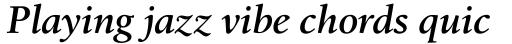 Birka SemiBold Italic sample