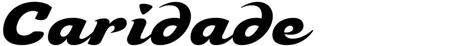 Click to view Caridade font, character set and sample text