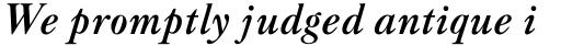 Caslon Classico Bold Italic sample