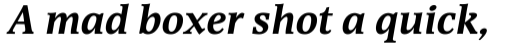 Devin Bold Italic sample