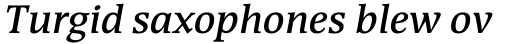 Devin SemiBold Italic sample