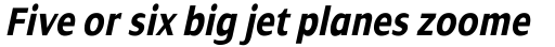 Dialog Condensed Bold Italic sample