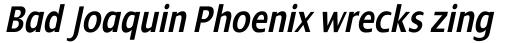 Dialog Condensed SemiBold Italic sample