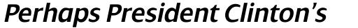 Dialog SemiBold Italic sample