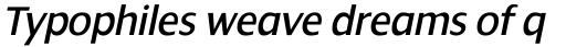 Dialog Italic sample