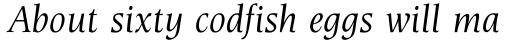 Esperanto Italic sample