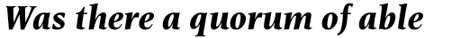 Esperanto Bold Italic sample