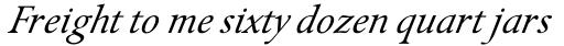 Isolde Italic sample