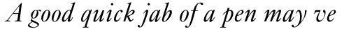 Kis Classico Italic sample