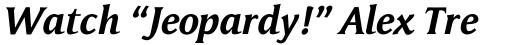 Memento Bold Italic sample