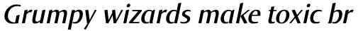 Norma SemiBold Italic sample