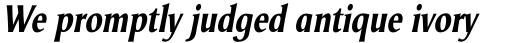 Odense Condensed Bold Italic sample