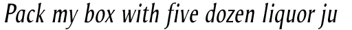 Odense Condensed Italic sample