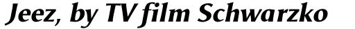Odense ExtraBold Italic sample