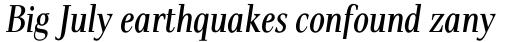 Pax Condensed Italic sample