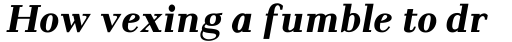Pax #2 Bold Italic sample