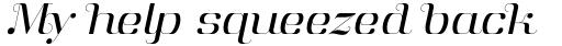 Aston Light Italic sample