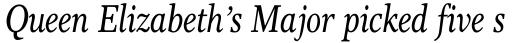 Res Publica Condensed Italic sample