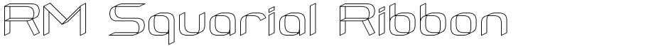 Click to view RM Squarial Ribbon font, character set and sample text