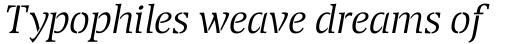 Transport Light Italic sample