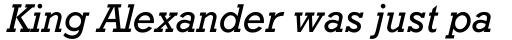 Geometric Slabserif 712 Medium Italic sample