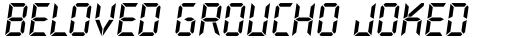 Overtime LCD Pro Bold Italic sample